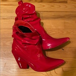 Red Patent Cowgirl boots
